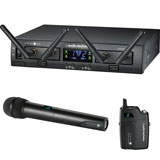 Audio-Technica ATW-1312 2.4GHz Digital Dual Channel Bodypack/HandHeld Wireless System