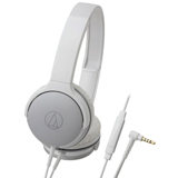 Audio-Technica ATH-AR1iSWH Portable On-Ear Headphones White