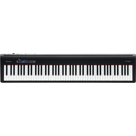 Roland FP-30-BK-SET Digital Piano Set with 3 pedals and stand