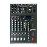 Studiomaster CLUBXS6+ 6-channel, 2 x mic + 2 stereo line input mixer with USB/SD