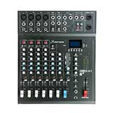 Studiomaster CLUBXS8+ 8-channel 4 x mic + 2 stereo line input mixer with USB/SD